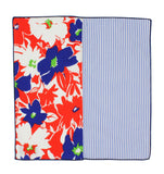 Floral & Striped Panelled Pocket Square