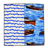 Boating Panelled Pocket Square
