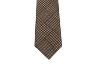 Camel Glen Plaid Silk Tie - Fine and Dandy