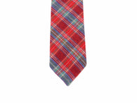 Red Tartan Flannel Tie - Fine and Dandy