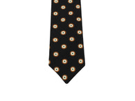 Black Medallion Silk Tie - Fine and Dandy