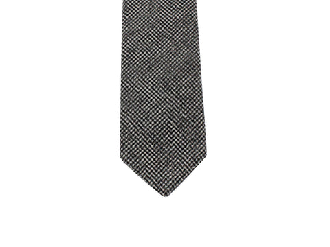 Black Houndstooth Wool Tie - Fine and Dandy