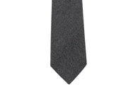Charcoal Wool Tie - Fine and Dandy