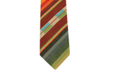 Autumnal Striped Cotton Tie - Fine and Dandy