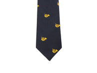 Navy French Horn Silk Tie