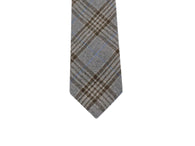Steel Blue Plaid Wool Tie - Fine and Dandy