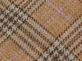 Tan Plaid Wool Tie