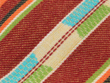 Autumnal Striped Cotton Tie