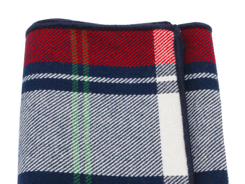 Red Tartan Flannel Pocket Square - Fine and Dandy