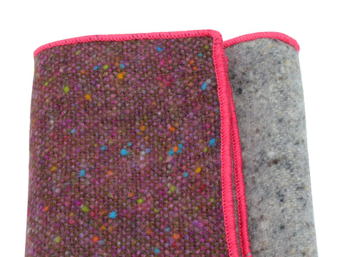 Donegal Tweed Panelled Wool Pocket Square - Fine and Dandy
