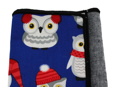 Winter Owls Panelled Pocket Square - Fine And Dandy