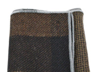 Brown Check Panelled Pocket Square - Fine And Dandy