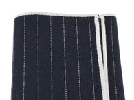 Black Striped Wool Pocket Square - Fine and Dandy