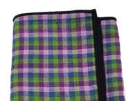 Purple Check Cotton Pocket Square - Fine and Dandy