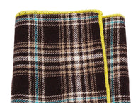 Brown Check Flannel Pocket Square - Fine and Dandy