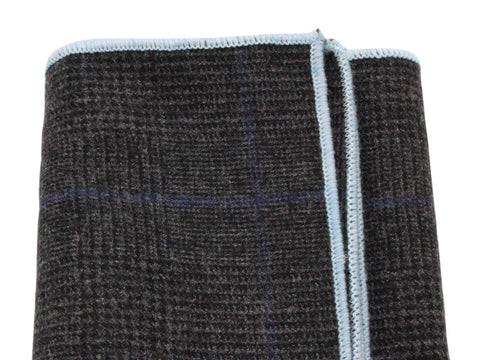 Charcoal Glen Plaid Wool Pocket Square - Fine and Dandy