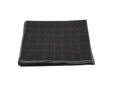 Charcoal Glen Plaid Wool Scarf - Fine And Dandy