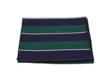 Green & Navy Striped Wool Scarf - Fine And Dandy