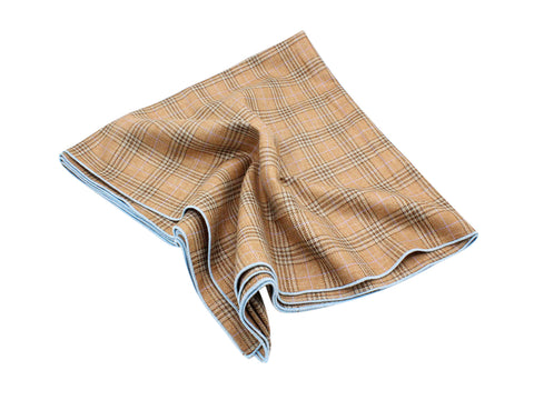 Tan Plaid Wool Blanket Scarf - Fine And Dandy