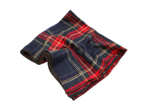 Red Tartan Wool Blanket Scarf - Fine And Dandy