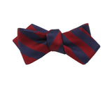 Red & Navy Striped Silk Bow Tie - Fine And Dandy