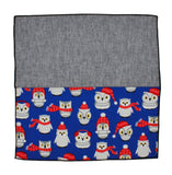 Winter Owls Panelled Pocket Square