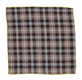Brown Check Flannel Pocket Square