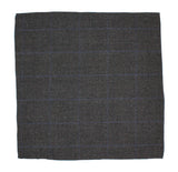Charcoal Glen Plaid Wool Pocket Square