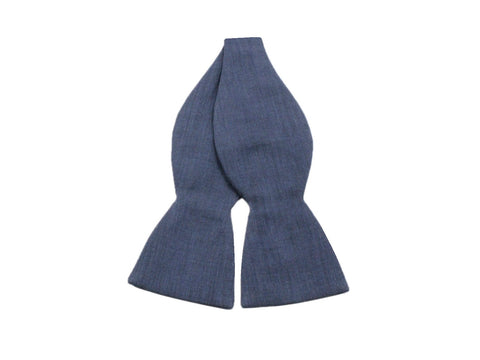 Blue Chambray Bow Tie - Fine And Dandy