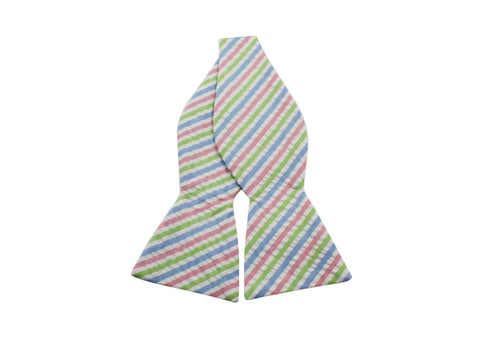 Pastel Seersucker Bow Tie - Fine And Dandy