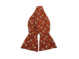 Rust Floral Silk Bow Tie - Fine And Dandy