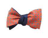Orange Medallion & Bold Dot Reversible Bow Tie - Fine And Dandy