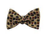 Gold Links Silk Bow Tie - Fine And Dandy