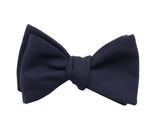 Midnight Blue Wool Bow Tie - Fine and Dandy