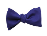 Royal Blue Wool Bow Tie - Fine and Dandy