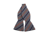 Grey Striped Cashmere Bow Tie - Fine And Dandy