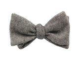 Brown Bird's Eye Cashmere Bow Tie - Fine And Dandy