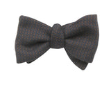 Navy & Brown Dobby Cashmere Bow Tie - Fine And Dandy