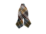 Brown Plaid Cotton Bow Tie - Fine and Dandy