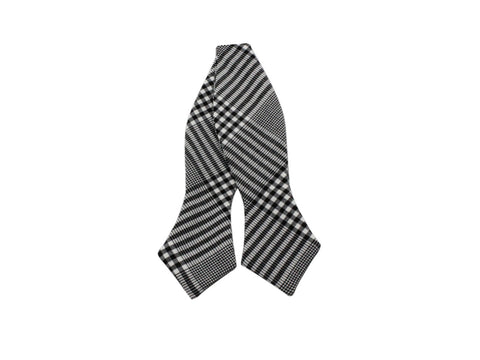 Glen Plaid Cotton Bow Tie - Fine and Dandy