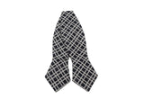 Black Check Cotton Bow Tie - Fine and Dandy