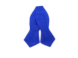 Blue Raw Silk Bow Tie - Fine And Dandy