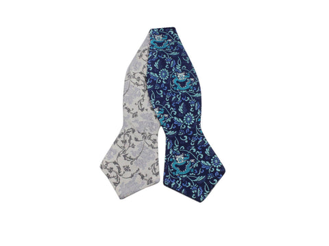 Dragon Kimono Print Reversible Bow Tie - Fine and Dandy