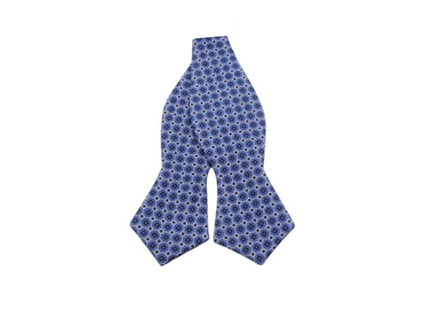Blue Medallion Silk Bow Tie - Fine and Dandy