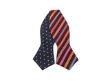Polka Dot & Striped Reversible Bow Tie - Fine and Dandy