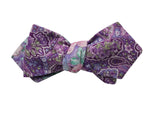 Purple Paisley & Floral Reversible Bow Tie - Fine and Dandy