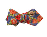 Red Floral Cotton Bow Tie - Fine And Dandy