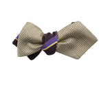 Striped Glen Plaid Reversible Bow Tie - Fine and Dandy