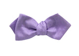Lavender Raw Silk Bow Tie - Fine And Dandy