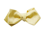 Yellow Raw Silk Bow Tie - Fine And Dandy
